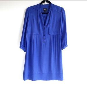 Anthropologie Maeve Dakota Blue Shirt Dress Size 6